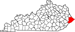 Map of Kentucky highlighting Pike County.svg