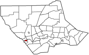 Map of Lycoming County Pennsylvania Highlighting Jersey Shore.png