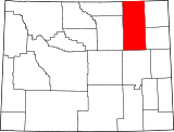 Map of Wyoming highlighting Campbell County.svg