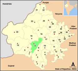 Vị trí của Huyện Pali