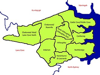 City of Willoughby - Map of City of Willoughby local government area.