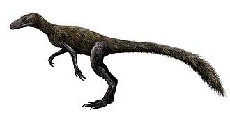 Marasuchus - Life restoration of M. lilloensis with featherlike filaments