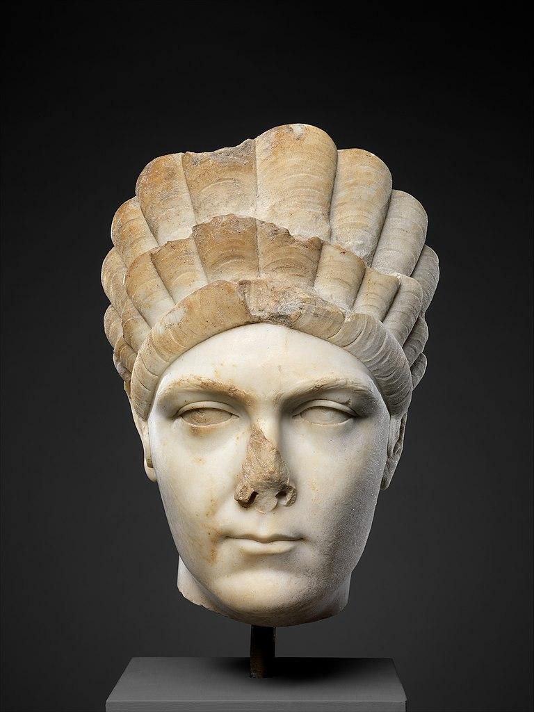 Marble portrait of Marciana, sister of the emperor Trajan, ca. A.D. 130–138, H. 12 1/4 in. (31.1 cm), Metropolitan Museum, New York