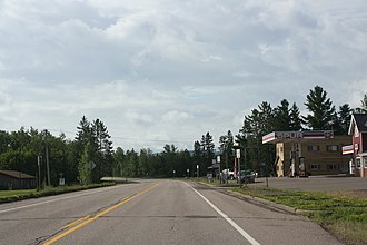 Marengo (CDP), Wisconsin - Looking south at Marengo on WIS13