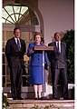Margaret Thatcher visiting George H. W. Bush at the White House.jpg