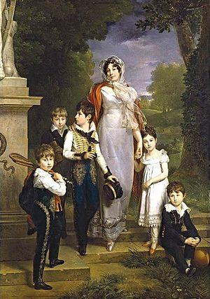 Louise Antoinette Lannes, Duchess of Montebello - Marguerite Gérard - Portrait of Maréchale Lannes, Duchesse de Montebello with Her Children - WGA8608