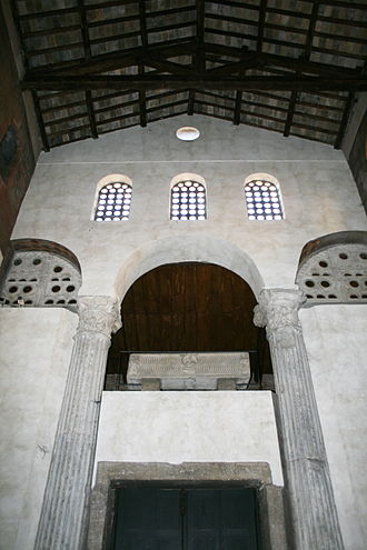 Praefectus annonae - The columns of the statio annonae are now part of the church of Santa Maria in Cosmedin, Rome. Other statio was found near the Crypta Balbi.