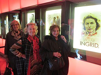 Ingrid Bergman: In Her Own Words - Ulla Jerstav Riese, Marianne Bernadotte and Gunvor Pontén after a screening of Jag är Ingrid in Stockholm (2015)