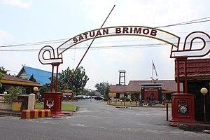 Mobile Brigade Corps - A Brimob Headquarters in Pekanbaru, Riau