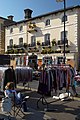 Market stalls in front of the Golden Lion Hotel, St Ives - geograph.org.uk - 310810.jpg