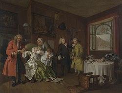 William Hogarth: Marriage à-la-mode: 6. The Lady's Death