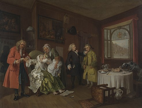 Marriage A-la-Mode 6, The Lady's Death - William Hogarth.jpg