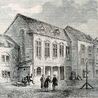 Marshalsea - Image: Marshalsea prison, London, 18th century (3)