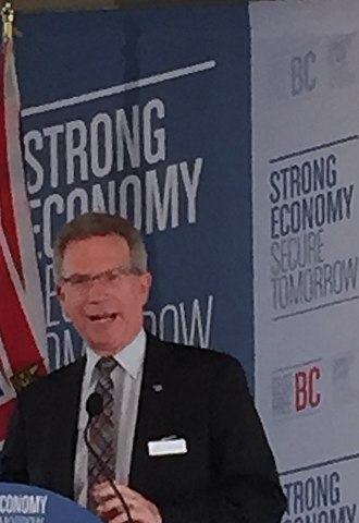 Marvin Hunt - British Columbia MLA Marvin Hunt speaking at a BC Liberal podium in 2016