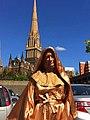 Mary Mackillop Human Statue (2) (14806980731).jpg