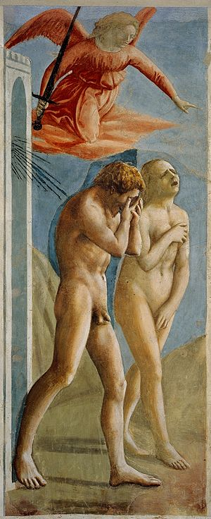 Expulsion of Adam and Eve from Masaccio.