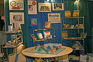 English: Display booth at trade show