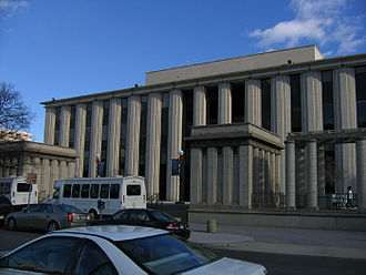 Georgetown Law - McDonough Hall, the main classroom building, facing 2nd St. NW