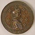 Medal Louis XII, King of France (r. 1498–15155), and Anne of Brittany (1476–1514) MET sf35-77s1.jpg