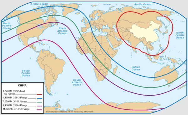 Range of medium and intercontinental ballistic missiles (2006) Medium and Intercontinental Range Ballistic Missiles.png