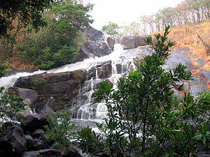 Meenmutty Falls, Thiruvananthapuram - Image: Meenmutty Falls