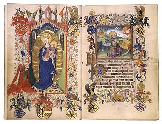Late medieval netherlandish illuminated manuscript