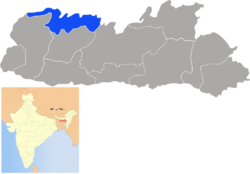 Location of North Garo Hills district in Meghalaya