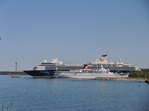 Mein Schiff 2 and Princess Daphne 13 May 2012.JPG