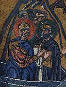 Деталь мозаики из монастыря Неа-Мони