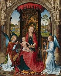 Hans Memling: Madonna and Child with Angels