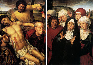 Diptych with deposition