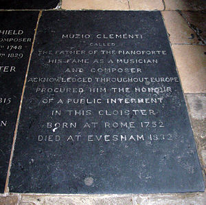 Muzio Clementi - Burial stone in Westminster Abbey