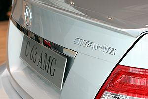 Mercedes-AMG - AMG logo on a Mercedes C63 AMG (W204)