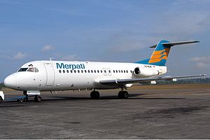 Merpati Nusantara Airlines Flight 724 - A Merpati Nusantara Airlines Fokker F28 Fellowship similar to the crashed aircraft