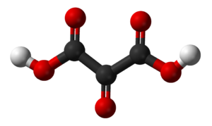 Mesoxalic acid - Image: Mesoxalic acid 3D balls