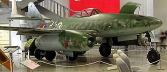 Messerschmitt Me 262 - Hans Guido Mutke's Me 262 A-1a/R7 on display at the Deutsches Museum