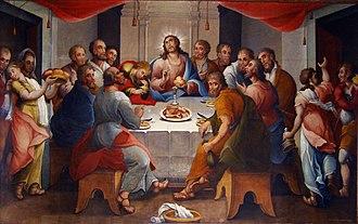 Manoel da Costa Ataíde - The Last Supper, Ataíde's only easel work. College of Caraça.