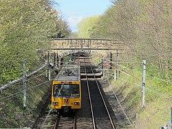 Metro lines north of Clayton Road, NE2 (geograph 2903571).jpg