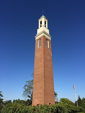 """Miami University - The """"Beta Bells"""" of Miami University were built with funds donated by the Beta Theta Pi fraternity on its Centennial in 1939."""