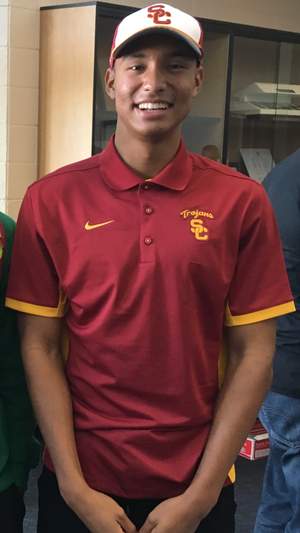 Michael Norman (sprinter) - Michael Norman at Vista Murrieta High School's Early-Signing Ceremony in November 2015