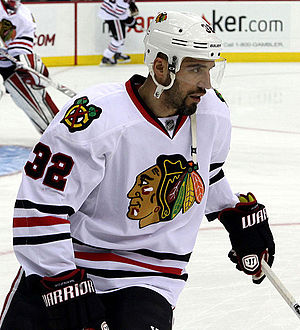 Michal Rozsíval - Rozsíval with the Chicago Blackhawks in December 2014