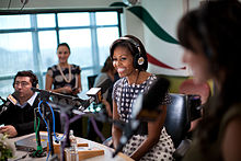 ... Lady Michelle Obama being interviewed on Sotelo's show. Oct. 27, 2010