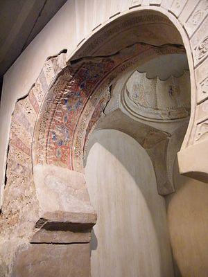 Abu ʿAbd Allāh Muḥammad ibn Saʿd ibn Mardanīš - The miḥrāb of a Mardanīšī mosque, later the oratorio of the Alcázar Mayor of Murcia and now the Museo de la Iglesia de San Juan de Dios
