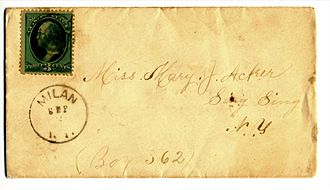 Milan, New York - The Milan Post Office operated from 1818 to 1908 at what is now Case's Corner. A rare cancellation shown above.