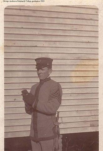 Reinhardt University - Early Reinhardt military cadet