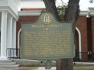 Miller County, Georgia - Miller County, Georgia historical marker