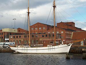 Lidköping - Image: Mina ship on Lidan, Lidköping