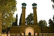 Minarets of Shah Abbas mosque in Ganja.JPG