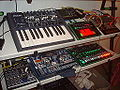 Minibrute & friends - MFB-Synth Lite, Roland AIRA TB-3 Touch Bass Line, Cyclone Analogic Bass Bot TT-303, Korg Volca Keys, Alto GHIBLI 16FX mixer, Korg Electribe MX (EMX-1), Roland AIRA TR-8 Rhythm Performer, NI Traktor Kontrol S2 (by David J).jpg