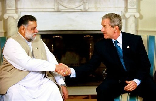 Mir Zafarullah Khan Jamali with Bush.jpeg
